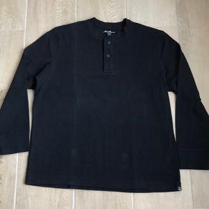 Eddie Bauer Black Henley Tshirt XXL